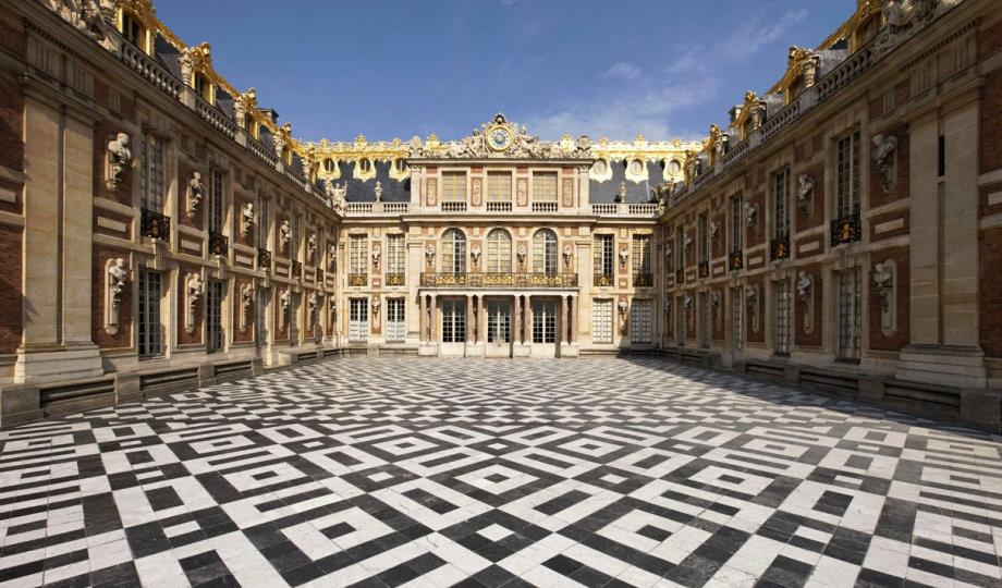 The courtyard of Palace of Versailles
