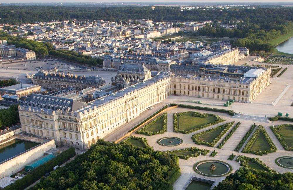 The building of Palace of Versailles