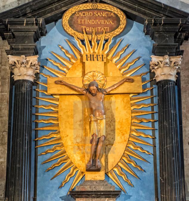 Jesus depicted in Gero Crucifix