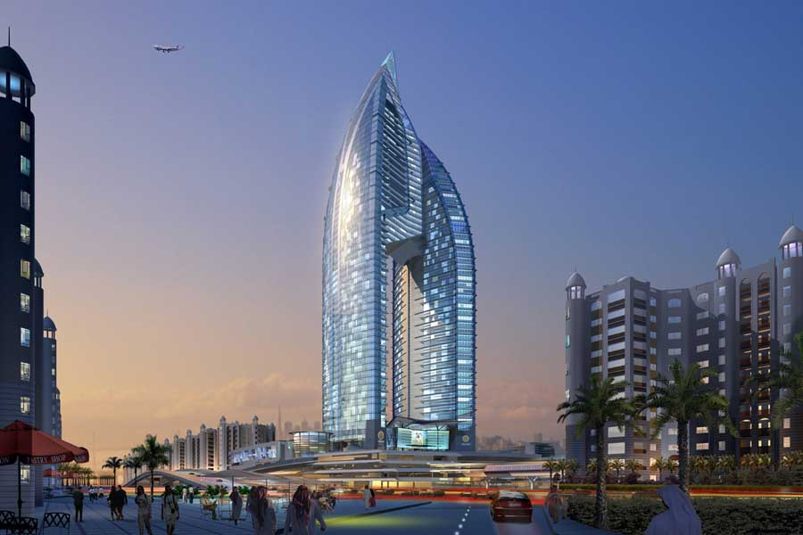 The render of Trump International Hotel & Tower on Palm Jumeirah