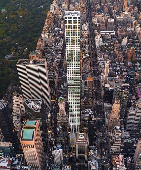 Aerial view of 432 Park Avenue