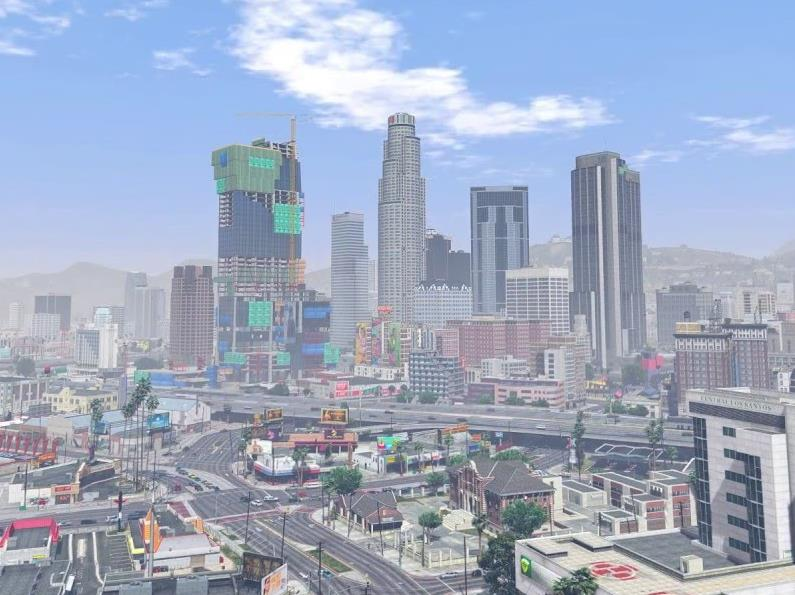 Skyline of Downtown Los Santos