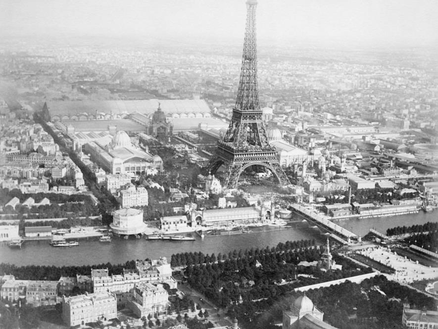 The Eiffel Tower seen during the 1889 Exposition in Paris