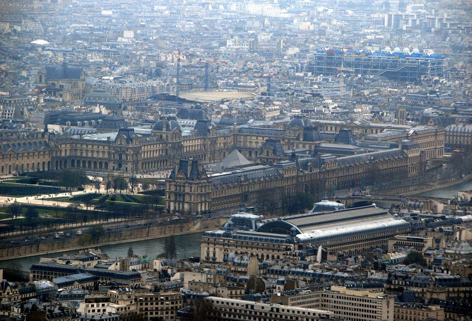 The Louvre Palace seen from the Eiffel Tower