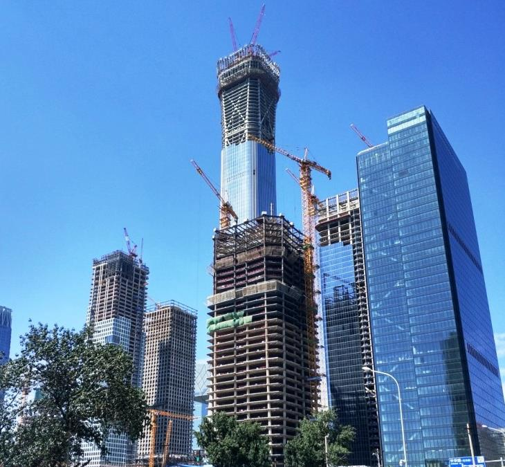 China Zun Tower tops out in August 2017