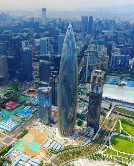 Aerial view of China Resources Tower