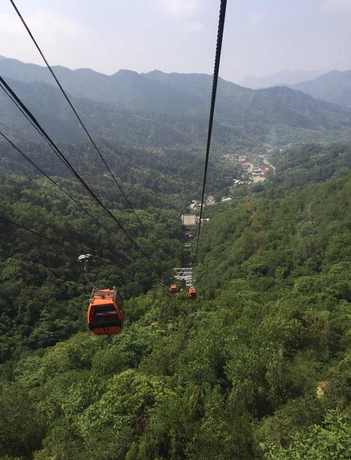 Cable cars in Mutianyu
