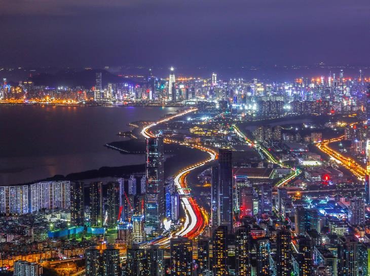 Night view of Qianhai skyline