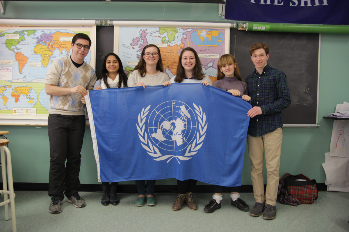 The Model UN team PHS was awarded best small delegation at CMUNCE. photo: Nathan Drezner