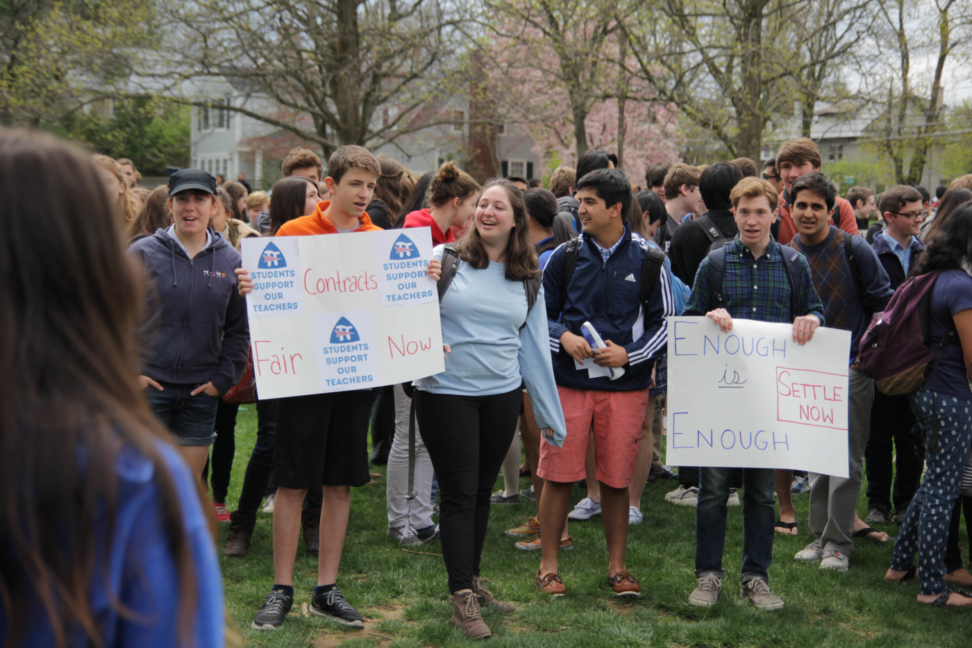 Hundreds of students walked out of class on April 23 to show support for the PREA.