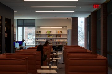 """photo by <span class=""""credit credit- """"><a href=""""/credit/""""Anya/"""" title=""""View all of this person's work"""">""""Anya</a></span> Princeton residents use the resources of the newly renovated second floor at the Princeton Public Library to complete work in a studious atmosphere."""