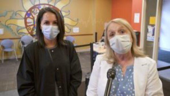 Medical Director Jessica Steak and Health Commissioner Sue Grazzini