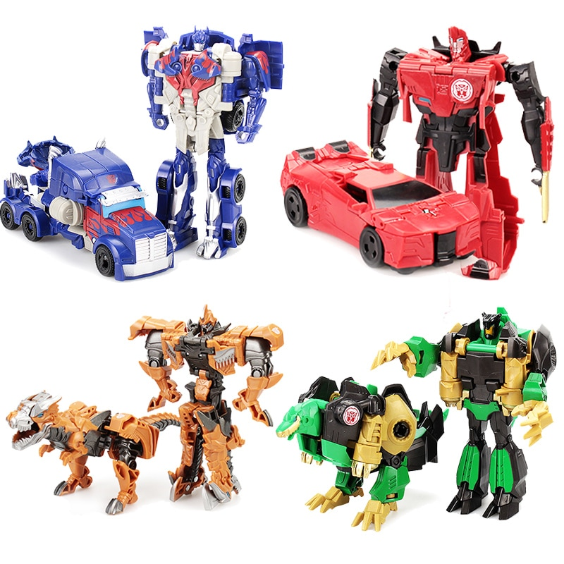12cm Transformation Robot Kit Toys Transformer 2 in 1 one Step Deformation Optimus Hornets Model Deformed Car Toy for Boy Gift