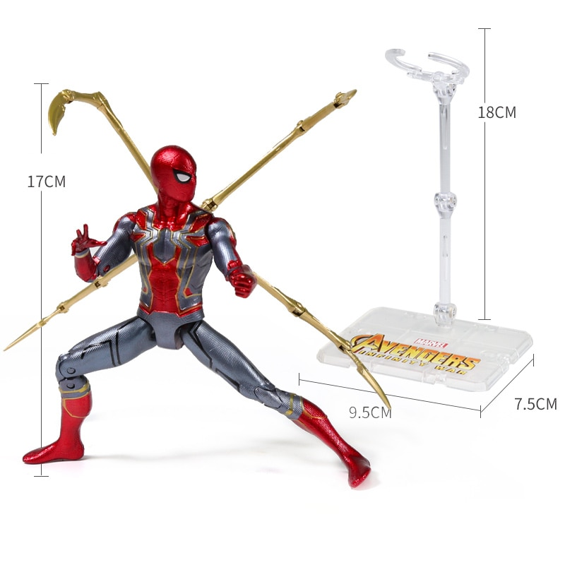 Genuine 17CM Marvel Avengers Endgame Super Heroes Iron Man The Amazing Spider-Man Captain America Action Figure Model Kids Toys