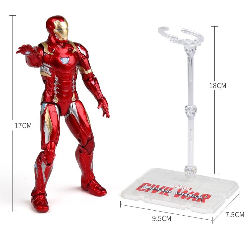 Genuine 17CM Marvel Avengers Endgame Super Heroes Iron Man The Amazing Spider-Man Captain America Action Figure Model Kids Toys
