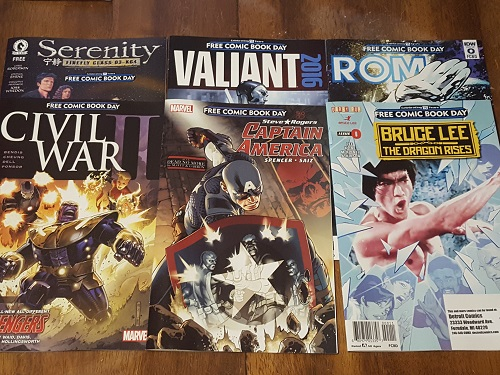 Haul from Free Comic Book Day 2016