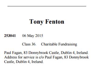Tony Fenton Trade Mark