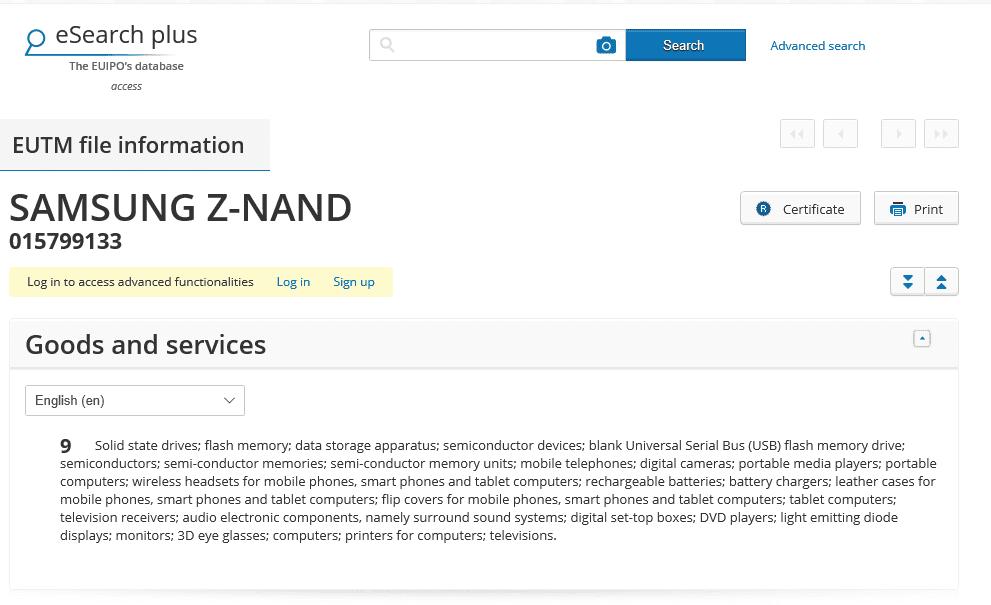 samsung-z-nand-eu-trademark-application-znand-z-nand-samsung