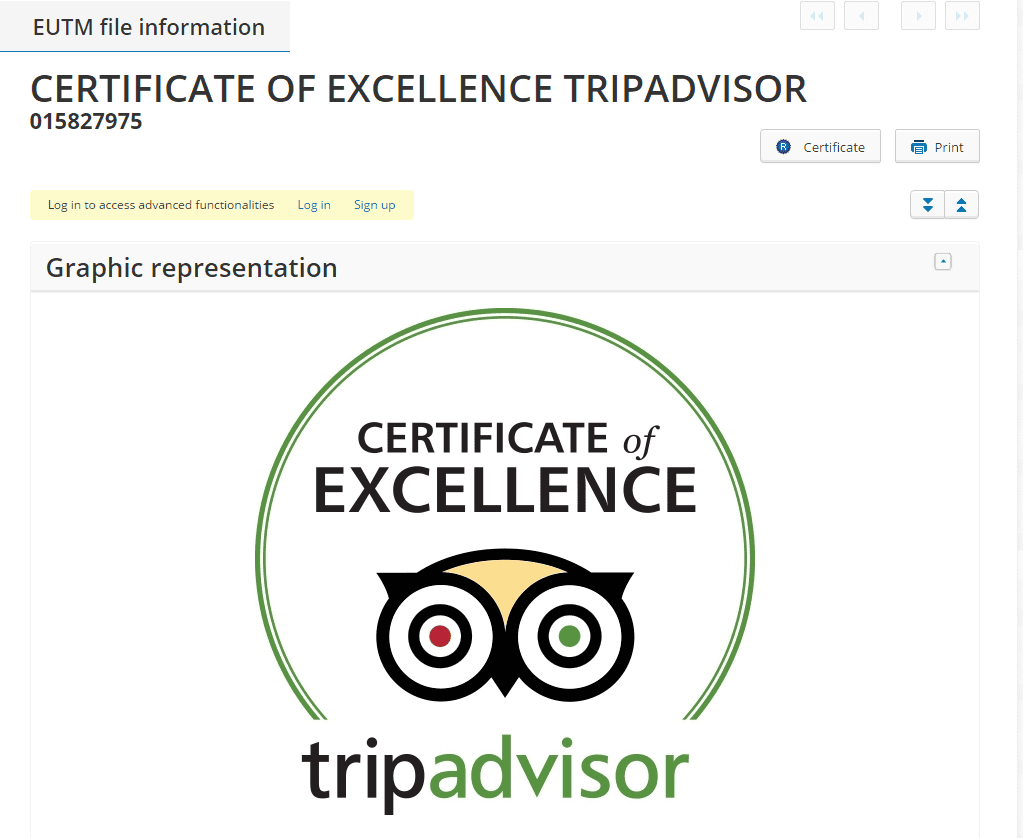 tripadvisor-certificate-of-excellence-eu-trademark-application