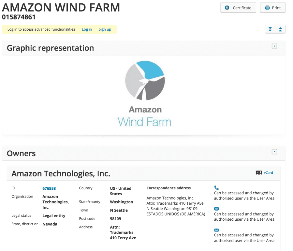 Are Amazon Wind Farms coming to the EU and is this a brand new logo for them <a href=