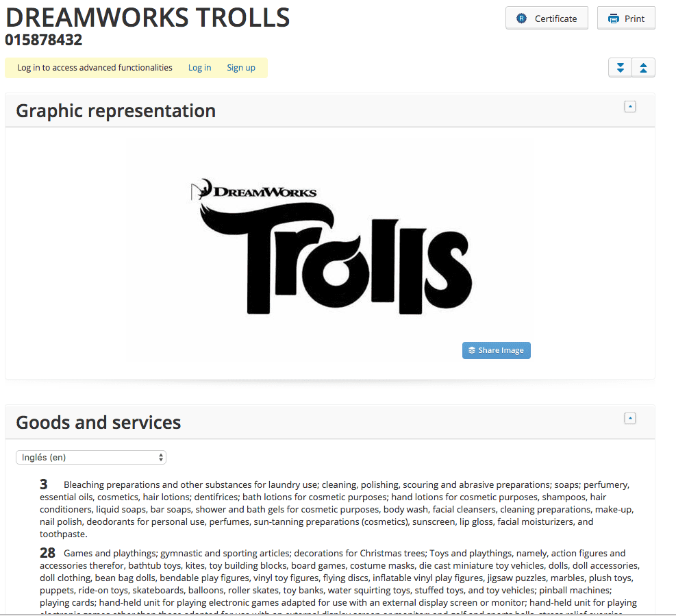 Theres been a few already but heres another <a href=http://twitter.com/Dreamworks target=_blank rel=nofollow data-recalc-dims=1>@Dreamworks</a> tradmark application for Trolls Dreamworks 1
