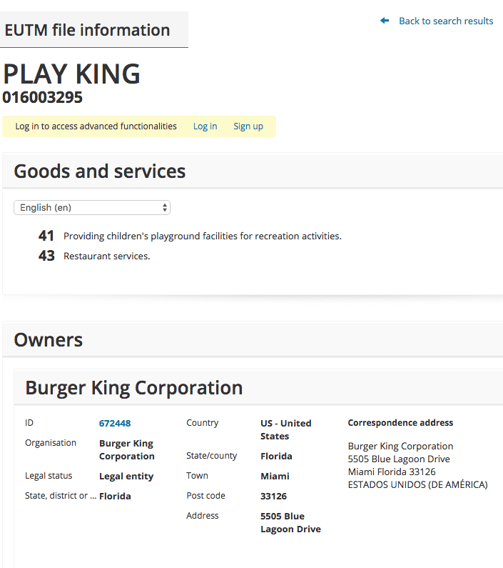 Burger King Want A Trademark For Their Playgrounds Well Of Course They Do Playking Trademark Application Filed In Eu