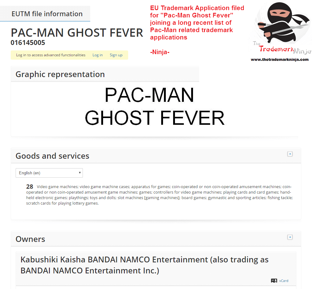 Namco Bandai Applies For Pac Man Ghost Fever As A Trademark In Eu For Arcade Machines Pacman