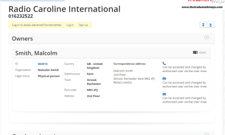 An EU trademark application has been filed for RadioCarolineInternational RadioCaroline