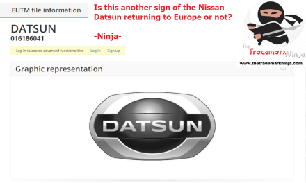 Another @Nissan Datsun trademark application filed in the EU Nissan