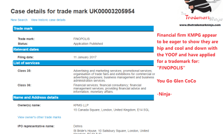 Financial Giant @KPMG have applied for a UK trademark for Finopolis