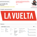 For bike enthusiasts heres a trademark application for LaVuelta