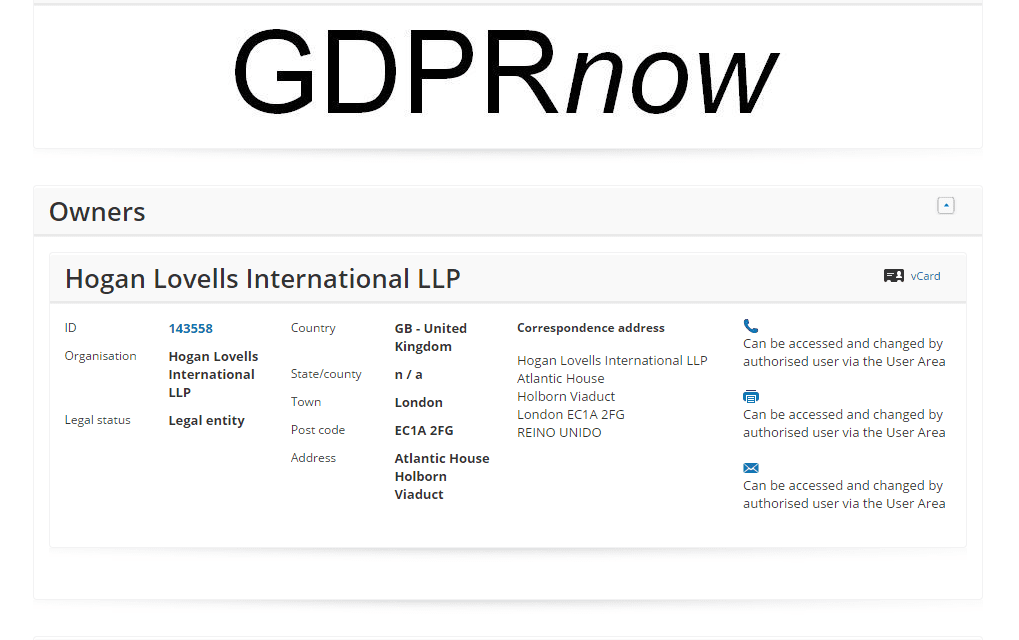 Law Firm @hoganlovells have applied and an EU trademark for GDPRnow GDPR DataProtection