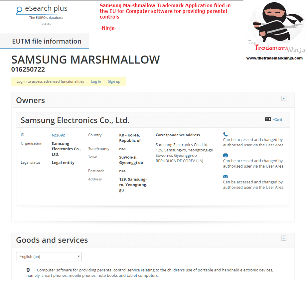 Samsung EU Trademark application for Marshmallow SamsungMarshmallow <a href=