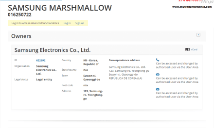 Samsung EU Trademark application for Marshmallow SamsungMarshmallow @Samsung @SamsungUK