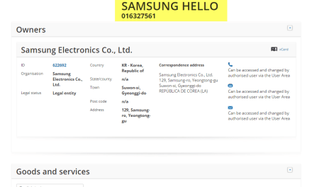 @Samsung have applied for an EU trademark for SamsungHello Samsung Hello @SamsungIreland