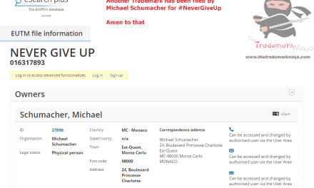 Another NeverGiveUp trademark by the family of @michaelschumacher Schumi