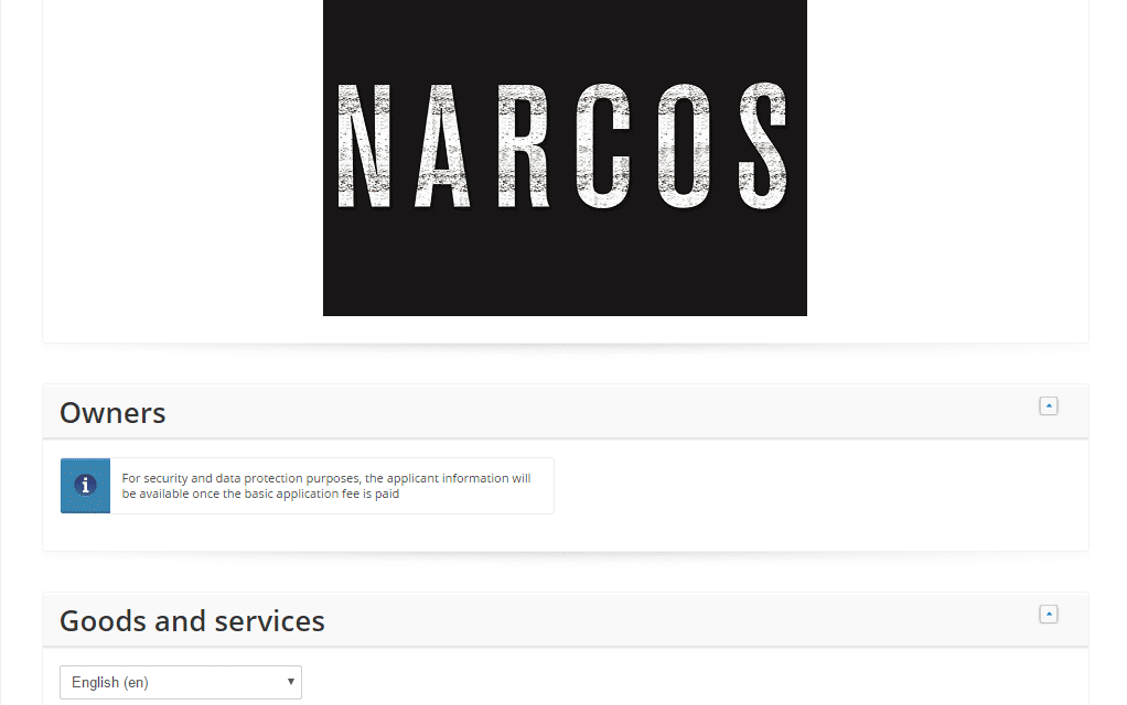 EU Trademarks Do you think @netflix will try and stop this Narcos trademark application