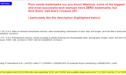 For any businesses that DONT have any trademarks if its good enough for DickDorm JustSayin