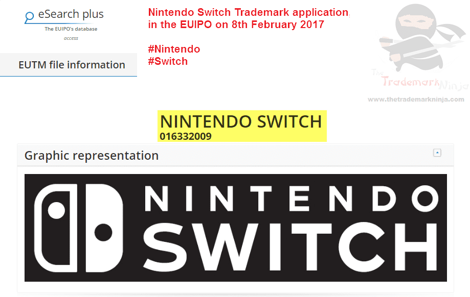 Its not the first one but another @nintendo EU trademark application for Switch