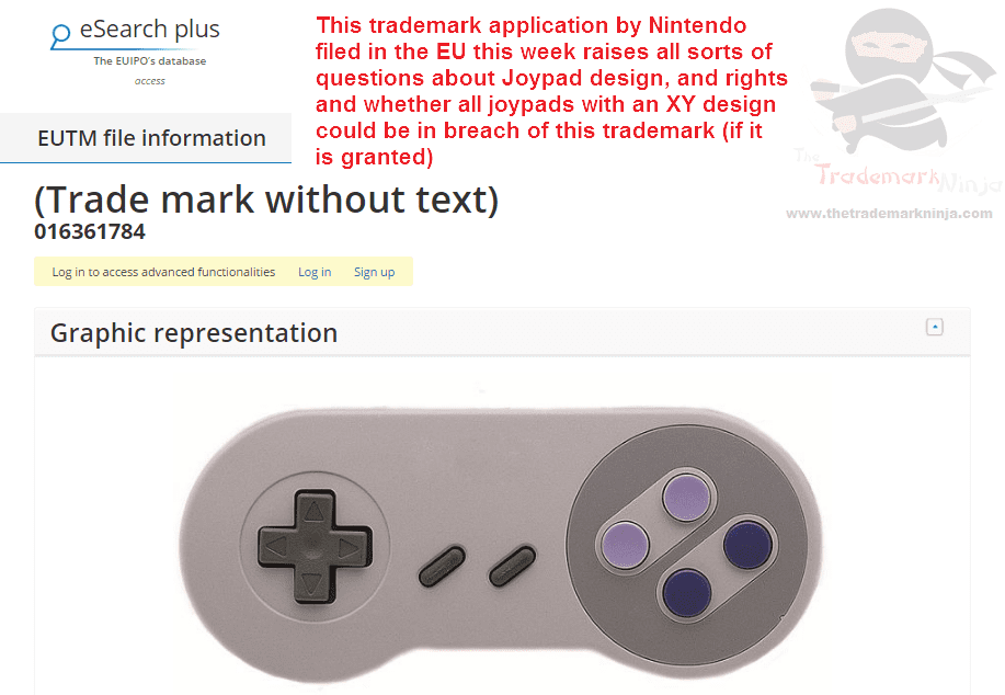 So <a href=http://twitter.com/nintendo target=_blank rel=nofollow data-recalc-dims=1>@nintendo</a> has applied for trademarks for the shape or design of its classic controllers Nintendo Joypad Controller