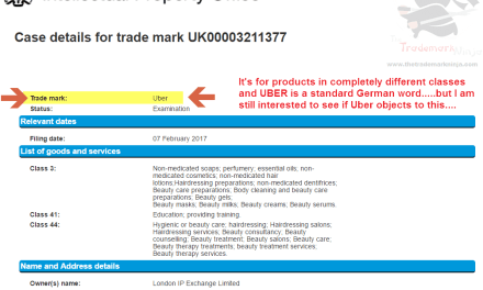 This is a potentially interesting trademark application for Uber @Uber TrademarkUK