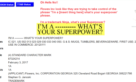 This must be stopped WhatsYourSuperpower Trademark application in the US Superpower Meme
