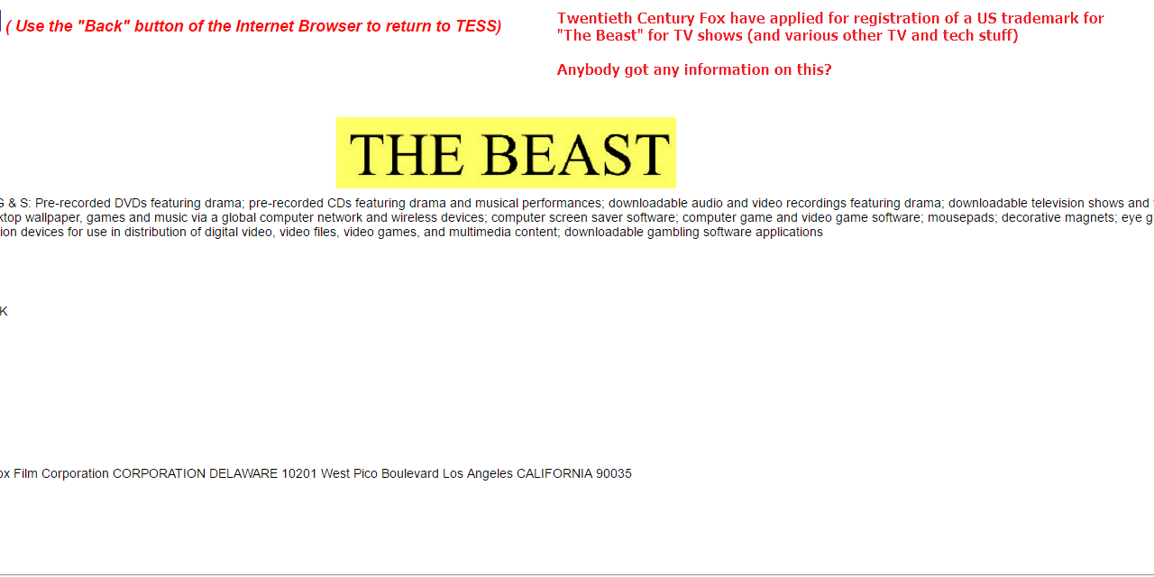 Anybody have any information on TheBeast from @20thcenturyfox Fox
