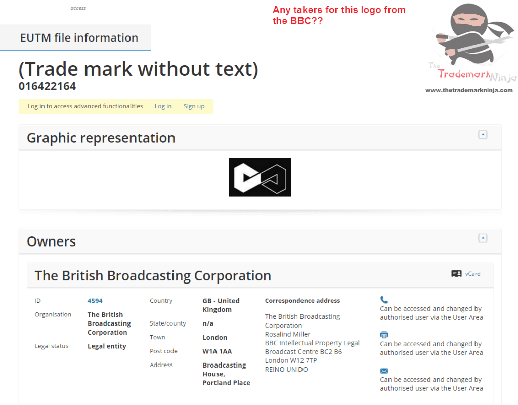 Anybody hazard a guess about this EU trademark application by the <a href=