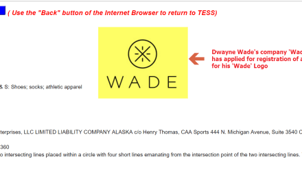 Dwayne Wade has applied for US trademark for Wade logo NBA