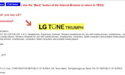 Electronics giant @LG applies for US trademark for ToneTriumph LG LifesGood