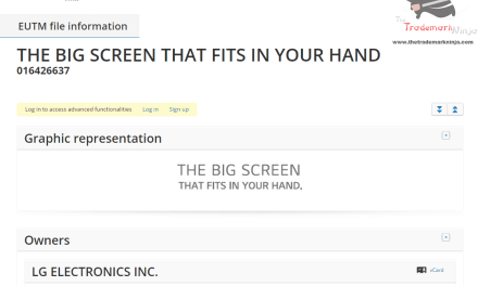 Electronics maker @LG applies for EU trademark for TheBigScreenThatFitsInYourHand