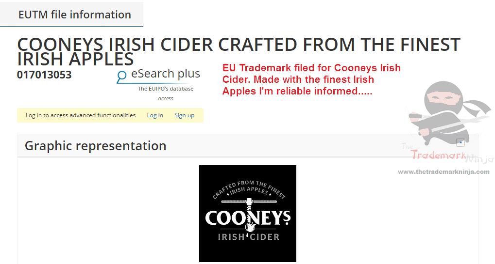 Cooneys Irish Cider applies for EU trademark Cooneys Cider IrishCider CooneysIrishCider