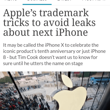 Apple Trademarks – The Trademark Ninja Brian Conroy quoted in Bloomberg Article