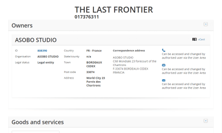 Believe it or not The Final Frontier isnt an EU trademark registered to any of the Star Trek related companies